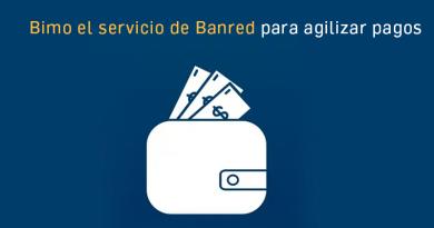Bimo el servicio de Banred para agilizar pagos.